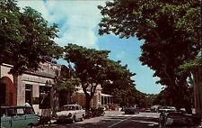 Hamilton Bermuda INGHILTERRA AK ~ 1960/70 STREET STRADA CARS AUTOMOBILI CASE houses Road