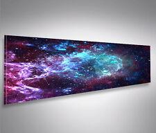 Bild auf Leinwand Sternennebel Sterne Weltall Galaxie Panorama Wandbild
