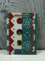 """ACEO Artist Trading Card """"Winter Wonderland"""" Made Out Stickers Glitter"""