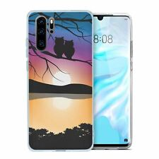 For Huawei P30 PRO Silicone Case Owl Art - S2472