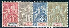 CONGO 1900 Yvert 42-45 * TADELLOS (F4787