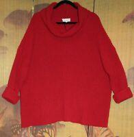 "SAHARA M/L Fabulous Chilli Red Alapaca Wool Boxy Jumper 60+""Bust Chunky pp£159"