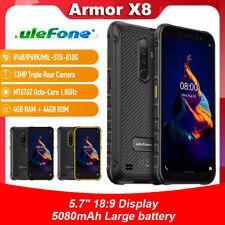 Ulefone Armor X8 Android 10 5.7'' Smartphone 5080mAh Rugged Waterproof 4GB+64GB