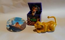 Disney lion king burger king figures, 3 pcs., rolling Simba, Scar finger puppet