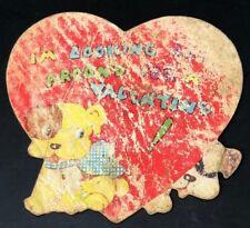 Vtg 1936 Valentines Card Pied Eyed Puppy Dog Neysa McElderry Billy Robinson 30s