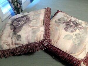 4 pillows pick 2  Croscill Chambord Cassis Decorative Throw Pillows 16x16 EUC