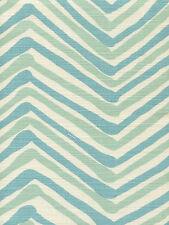 Quadrille Alan Campbell Fabric - Zig Zag Multicolor / Aqua Lt Turquoise 1.75 yd
