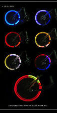 2 X NEON LED VALVE STEM BIKE/CAR RIMS WHEEL LIGHTS ATV SCOOTER MOTORCYCLE ETC...