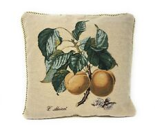 DaDa Bedding Vintage Novelty Floral Tan Fruit Square Accent Pillow Cushion Cover