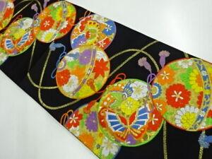29917# JAPANESE KIMONO / OBI FOR KIDS / WOVEN MARI BALL & MAPLE