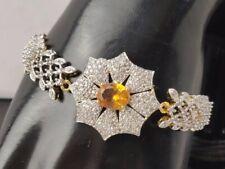 BRAND NEW FABULOUS ZIRCONIA AMERICAN DIAMOND HOOK BRACELET