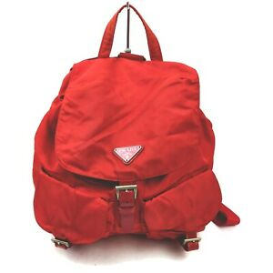 Prada Back Pack  Reds Nylon 1508782