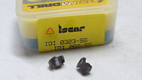 2 pcs ISCAR Chamdrill IDI 0323-SG IC908 Cham U-Drill Carbide Replacement Tips