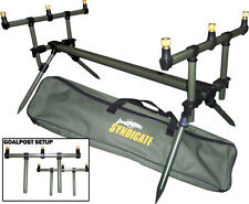 DINSMORES deluxe carpe syndicate goal post fishing rod pod avec buzz bars & case