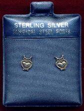 CUTE OWL STERLING SILVER EARRINGS SURGICAL STEEL POSTS