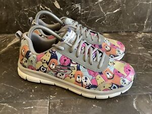 Skechers Women Work Slip Resistant Relaxed Fit Comfort Flex Dog Party Size 8 38