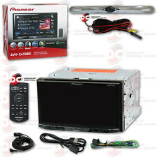 "PIONEER CAR 7"" 2-DIN DVD CD BLUETOOTH STEREO FREE CHROME LICENSE PLATE CAMERA"