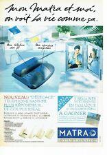 PUBLICITE ADVERTISING 126  1993   téléphone sans fil Dédicace de Matra communica