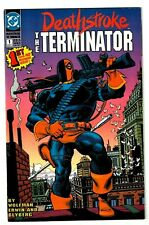 DEATHSTROKE #1 (VF/NM) Slade Wilson! Mike Zeck Cover! DC 1991 Copper-Age
