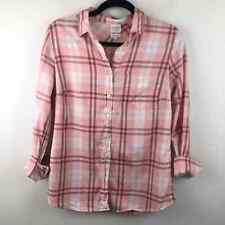 J. Crew Perfect Fit Pink Flannel Button Up Shirt Small