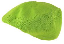 D&Y Men's Mesh Ivy Cabbie Cap Crochet Hat Large Lime Green