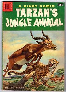 Dell Giant #5 Featuring Tarzan's Jungle Annual, Very Good Condition
