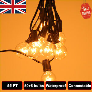 16.8M Mains Power G40 Clear Bulb Vintage Extendable Outdoor Festoon String Light