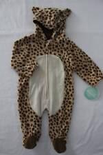 NEW Unisex Fleece Sleeper 6 - 9 Months Bodysuit Leopard Hooded Outfit Costume