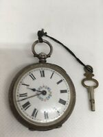 antique Swiss silver pocket watch - perfect working - vintage