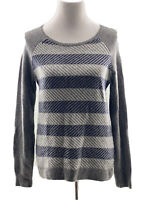 J. Crew Slanted Stripe Womens Small Sweater Pre-owned In EUC