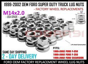 1999-2002 Ford F-250 F-350 Chrome Factory Lug Nuts Flat Washer 14x2.0 OEM Wheels