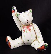 Royal Crown Derby ~ Victoria Miniature Waving Teddy Bear 1997