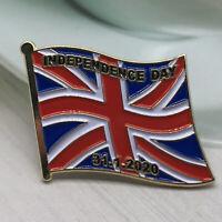 Brexit Independence Day Enamel Pin Badge 31st January 2020 Union Jack UK Rare