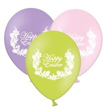 """Happy Easter - Daffodils - 12"""" Printed Latex Balloons Asst 25 ct By Party Decor"""