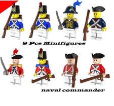 8 Pcs Minifigures Custom navy commander royal guard Army Lego MOC