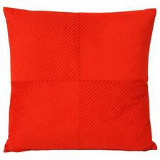 """Red Inspiral Stripe Chenille Thick Soft Large Cushion Cover 22"""" - 55cm"""