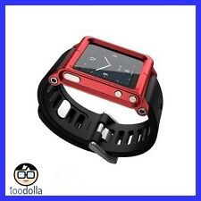 LunaTik aluminium watch conversion kit, iPod Nano 6G/6th Gen, RED, NEW, Oz Stock