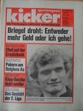 KICKER 49 - Hans-Peter Briegel Zugang Bayern Sigurvinsson Klug-Bombe tickt