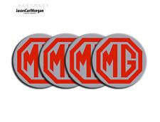 MG ZR ZS ZT Alloy Wheel Centre Cap Badges Red Silver 57mm MG Logo Caps Badge Set
