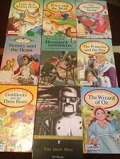 9 LADYBIRD BOOKS WIZARD OF OZ THE ENORMOUS TURNIP PRINCESS PEA GOLDILOCKS BOOK
