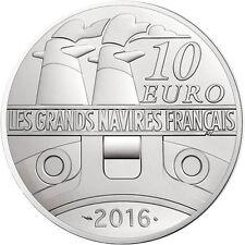 EUR, France, Monnaie de Paris, 10 Euro, Navire, Ile de France, 2016, FDC #98183