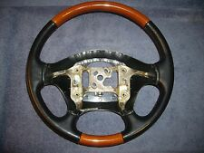 CADILLAC SEVILLE STS SLS BLACK LEATHER & WOODGRAIN STEERING WHEEL