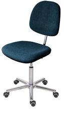 Antistatischer ESD Arbeitsstuhl Modell 6645 mit Rollen, Sitz Polster anthrazit