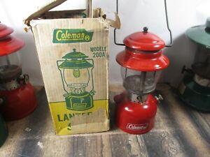 COLEMAN LANTERN 200 RED  W / ORIGINAL BOX  DATED 2 - 69    NO RESERVE