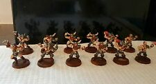 WARHAMMER Games Workshop Giocatore Bloodbowl PRO PAINTED Norreno Team x12 metallo fuori catalogo