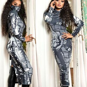 MEXTON By Alina Damenkleid Tunika Partykleid Midikleid Longshirt 34 - 38 #D378