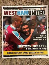 West Ham United v Wigan Athletic - Barclays Premiership 2006/07 Programme