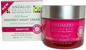 1000 Roses Heavenly Night Cream by Andalou Naturals, 1.7 oz