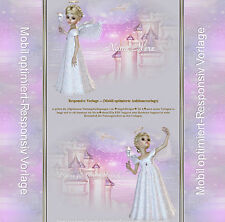 Responsive Auktionsvorlage Engel Neutral Angel Template  Mobile eBay Vorlage|611