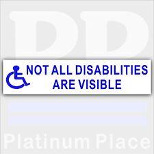 1 x non tutte le disabilità sono visibili-disattivato Driver Auto Adesivo-segno disabilità